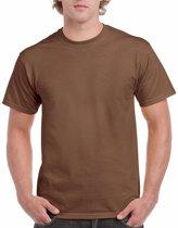 Bruin katoenen shirt voor volwassenen S (36/48)