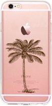 Apple Iphone 6 Plus / 6S Plus Transparant siliconen hoesje met palmboom