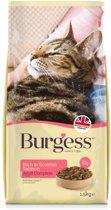 Burgess cat adult rijk aan schotse zalm kattenvoer 1,5 kg