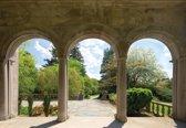 Fotobehang Garden Through Arches   L - 152.5cm x 104cm   130g/m2 Vlies