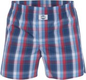 DEAL boxershort grote ruit blauw rood wit-L