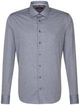 Seidensticker overhemd slim fit grijs, maat 45