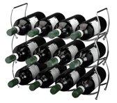 Ceruzo Stapelbaar wijnrek voor 12 flessen (3 delig)