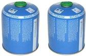 2x Campingaz gasfles cartridge gasbus CV470 voor onkruidbrander