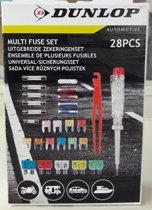 Zekeringenset - Dunlop - 28 stuks - Steekzekering - auto zekering set