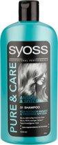 Syoss Shampoo Pure & Care - Voordeelverpakking 6 x 500 ml