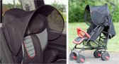 Diono - Zonnescherm autostoeltje & buggy - Auto zonwering kind - Seat Shade