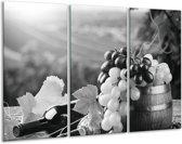 Glas schilderij Druiven, Keuken | Zwart, Grijs | 120x80cm 3Luik | Foto print op Glas |  F006838