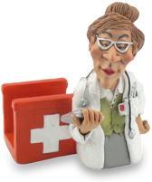 Beroepen beeldje huisarts tabletstandaard vrouw - arts Warren Stratford