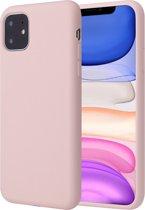 iPhone 11 Hoesje - Liquid Soft Siliconen Case - iCall - Roze