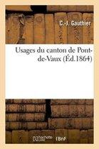 Usages Du Canton de Pont-De-Vaux