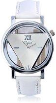 Driehoek Horloge Wit | Statement Triangle Watch | Fashion Favorite