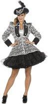 Jaren 20 Danseressen Kostuum   Zwarte Show Jas Opera Vrouw   Maat 46   Carnaval kostuum   Verkleedkleding