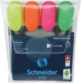 Schneider tekstmarker etui a 4 stuks assorti
