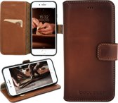 Bouletta Lederen Apple iPhone 7/8 Plus Hoesje - Book Case - Burned Cognac