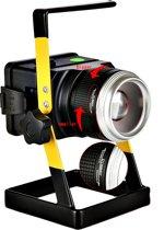 PO-7254 Oplaadbare draadloze LED werklamp 30W - drie standen - met zoomfunctie