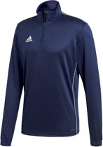 adidas Core 18 Training Top  Sportshirt performance - Maat L  - Mannen - blauw