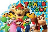 Super Mario Bros bedankkaartjes 8 st.