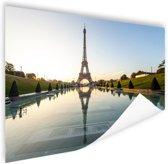 Eiffeltoren bij dag Parijs Poster 90x60 cm - Foto print op Poster (wanddecoratie)
