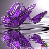 """Diamond Painting """"JobaStores®"""" Paarse Vlinders - volledig - 30x30cm"""