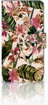 Huawei P20 Uniek Boekhoesje Flowers
