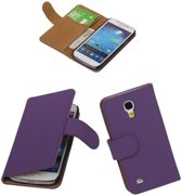 Paars Samsung Galaxy S4 Mini Hoesjes Book/Wallet Case/Cover