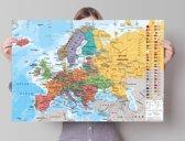 REINDERS Kaart van Europa - Poster - 91,5x61cm