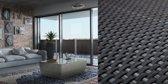 balkonscherm-2000x90 cm-RD03 Onverwoestbaar Balkonscherm - 90 cm hoog - duurzaam & eenvoudige montage - 20 meter lange balkonafscheiding - PERFECT BALKONSCHERM© Antraciet