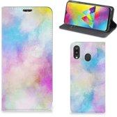 Bookcase Samsung Galaxy M20 Watercolor Light