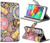 Kleurrijke Figuurtjes Bookcase Hoesje Samsung Galaxy S5