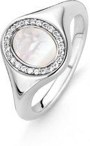 TI SENTO Milano Ring 12085MW - maat 19 mm (60) - Zilver witgoudverguld