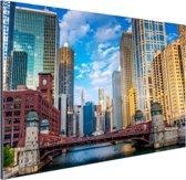 Chicago rivier Aluminium 30x20 cm - klein - Foto print op Aluminium (metaal wanddecoratie)