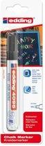 Edding - Krijtmarker e-4095 - Op blister - Zwart