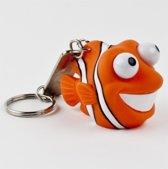 Leuk kado met naam sleutelhanger  pop out nemo - oranje