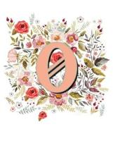 O Monogram Letter Floral Wreath Notebook
