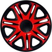 4-Delige J-Tec Wieldoppenset Nascar 13-inch zwart/rood