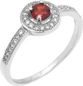 Montebello Ring Paradisea  - Dames - Zilver Gehrodineerd - Zirkonia - ∅7 mm - maat 64 - 20.4