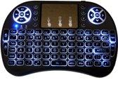 Type i8 keyboard met Backlight Draadloos mini multimedia toetsenbord met touchpad + oplaadbare accu