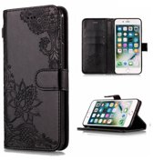 Apple Iphone 7 / 8 Bookcase hoesje zwart (mandala)