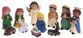11x Kinder kerststal kerstbeelden - kerststal figuren