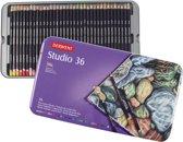 Derwent Studio 36 kleurpotloden  in blik