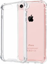 Pearlycase Transparant TPU Siliconen Case backcover Hoesje voor iPhone 8 (verstevigde randen)