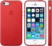 Apple iPhone SE/5/5S hoesje van leer - Rood