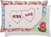 Clayre&Eef Kussen Gevuld Kiss/Hug 35x25cm
