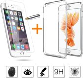 Ultra Dunne TPU silicone case hoesje Met Gratis Tempered glass Screenprotector iPhone 6 6S