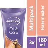 Andrélon Oil & Care Haarmasker - 3 x 180 ml - Voordeelverpakking