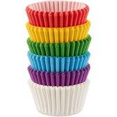 Wilton Mini Cupcakevormpjes Regenboog / Multicolorn pk/150