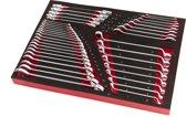 40 Delige Steeksleutel, Ringsleutel en Cardansleutelset Foam Inlay