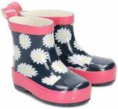 Playshoes Korte Regenlaarzen Donkerblauw Roze Maat 23