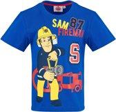 Brandweerman-Sam-T-shirt-met-korte-mouw-blauw-maat-128